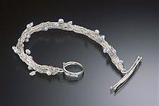 Crocheted Bracelet with Freshwater Pearls by Randi Chervitz (Silver & Pearl Bracelet)