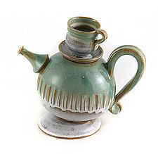 Ocean Wave Teapot by Carol Tripp Martens (Ceramic Teapot)