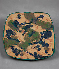 The View From Above Wall Plate by Kristi Sloniger (Ceramic Wall Sculpture)