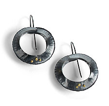 Orbit Drop Earrings by Lisa D'Agostino (Gold & Silver Earrings)