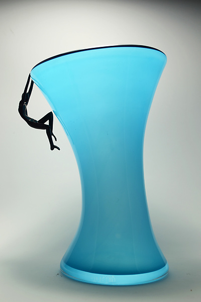 People Vase in Turquoise