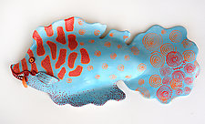 Party Fish by Byron Williamson (Ceramic Wall Sculpture)