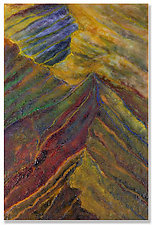 Ridge Tops by Anne Nye (Art Glass Wall Sculpture)