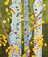 Last Leaves of Summer by Meredith Nemirov (Mixed-Media Painting)