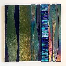 Waterfall view III by Alicia Kelemen (Art Glass Wall Sculpture)