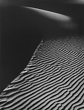 Dune #2 - Evening White Sands by William Lemke (Black & White Photograph)