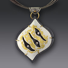 Scratch Pendant by Jennifer Park (Enameled Necklace)