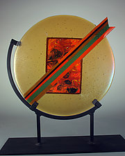 Lightning by Colleen Gyori (Art Glass Sculpture)