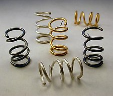 """Coil Earrings"" by Emanuela Aureli (Metal Earrings)"