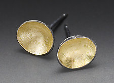 Dot Earrings by Peg Fetter (Gold & Silver Earrings)