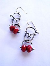 Bridle Earrings 1 by Erica Stankwytch Bailey (Silver & Stone Earrings)