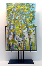 Springtime Wood by Anne Nye (Art Glass Sculpture)
