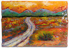 Sunset Journey by Anne Nye (Art Glass Wall Sculpture)