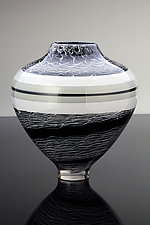 Black and White by Benjamin Silver (Art Glass Vase)