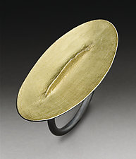 Long Ridge Ring by Peg Fetter (Gold & Silver Ring)