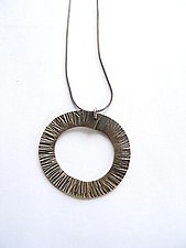 Forged Circle Necklace by Erica Stankwytch Bailey (Silver Necklace)