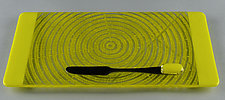 Small ColorCentric Yellow Serving Plank by Terry Gomien (Art Glass Tray)