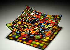 Summer Salsa by Robert Wiener (Art Glass Platter)