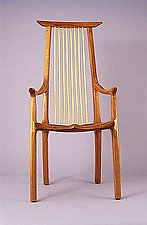 Blackwater Library Chair by Richard Laufer (Wood Chair)