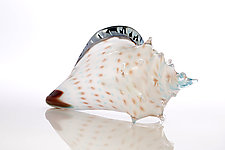 Atlantis Sea Shell by Benjamin Silver (Art Glass Sculpture)