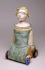 Liberty on Wheels by Amy Goldstein-Rice (Ceramic Sculpture)