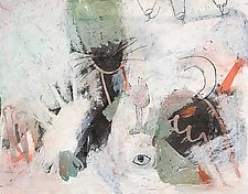 Full Of Cat by Nedra DiFilippo (Pastel Painting)
