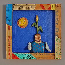 Grower by Elizabeth Frank (Wood Wall Sculpture)