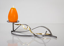 Golden Twist Single Candle by Ken Girardini and Julie Girardini (Metal Candleholder)