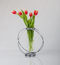 Orbits Vase by Ken Girardini and Julie Girardini (Metal Vase)