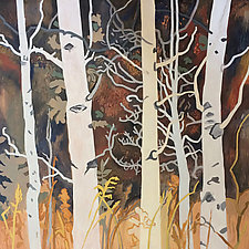 An Autumn Aspen Afternoon by Meredith Nemirov (Oil Painting)