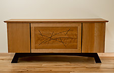 Line Design Media Cabinet by David Kellum (Wood Cabinet)