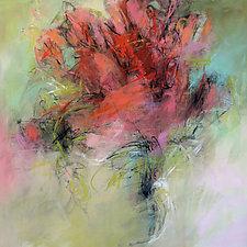 Floral Impression II by Debora  Stewart (Acrylic Painting)