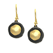 Oyster Dishy Earrings by Sarah Richardson (Gold & Silver Earrings)