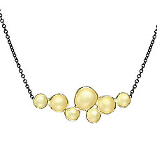 Medium Cloud Pendant in Gold by Sarah Richardson (Gold & Silver Necklace)