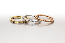 Gold Scoop Out Stacking Ring by Conni Mainne (Gold Ring)
