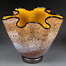 Zymova Vyshnya (Winter Cherries) by Eric Bladholm (Art Glass Vessel)
