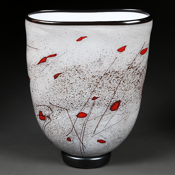 Zymovi Yabluka (Winter Apples) Flat Sided Vase