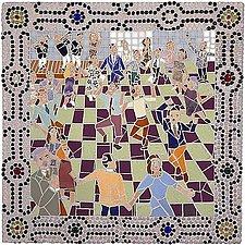 Hora Dance by Jonathan I. Mandell (Mosaic Wall Sculpture)