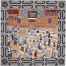 Bar Mitzvah Torah Processional by Jonathan I. Mandell (Mosaic Wall Sculpture)