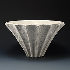 Darci Deep Ridge Coastal Texture Bowl by Judi Tavill (Ceramic Bowl)
