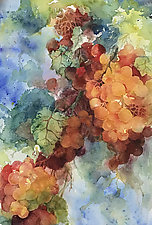 Grapes on the Vine by Terrece Beesley (Watercolor Painting)