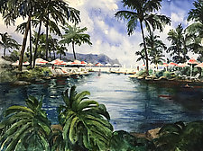 Hanalei Bay by Terrece Beesley (Watercolor Painting)