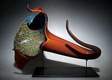 Gold Bloom by David Patchen (Art Glass Sculpture)