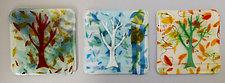 Seasonal Trees Coasters by Martha Pfanschmidt (Art Glass Coasters)