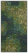 Green Grid Banner by Tim Harding (Fiber Wall Art)
