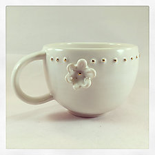 Classy Hippie Tea Cup by Chris Hudson and Shelly  Hail (Ceramic Mug)