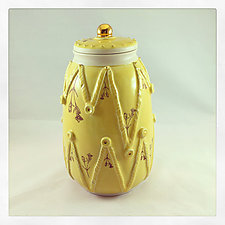 It Was All Yellow Jar by Chris Hudson and Shelly  Hail (Ceramic Jar)