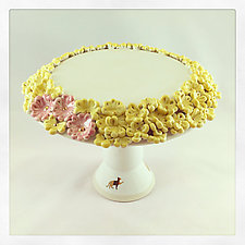 Flower Power Dessert Stand by Chris Hudson and Shelly  Hail (Ceramic Cake Platter)