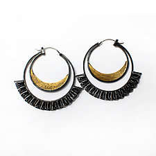 Blossom Hoop Earrings by Sophia Hu (Gold & Silver Earrings)