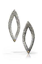 Lotus Petal Earrings by Susie Aoki (Gold & Silver Earrings)
